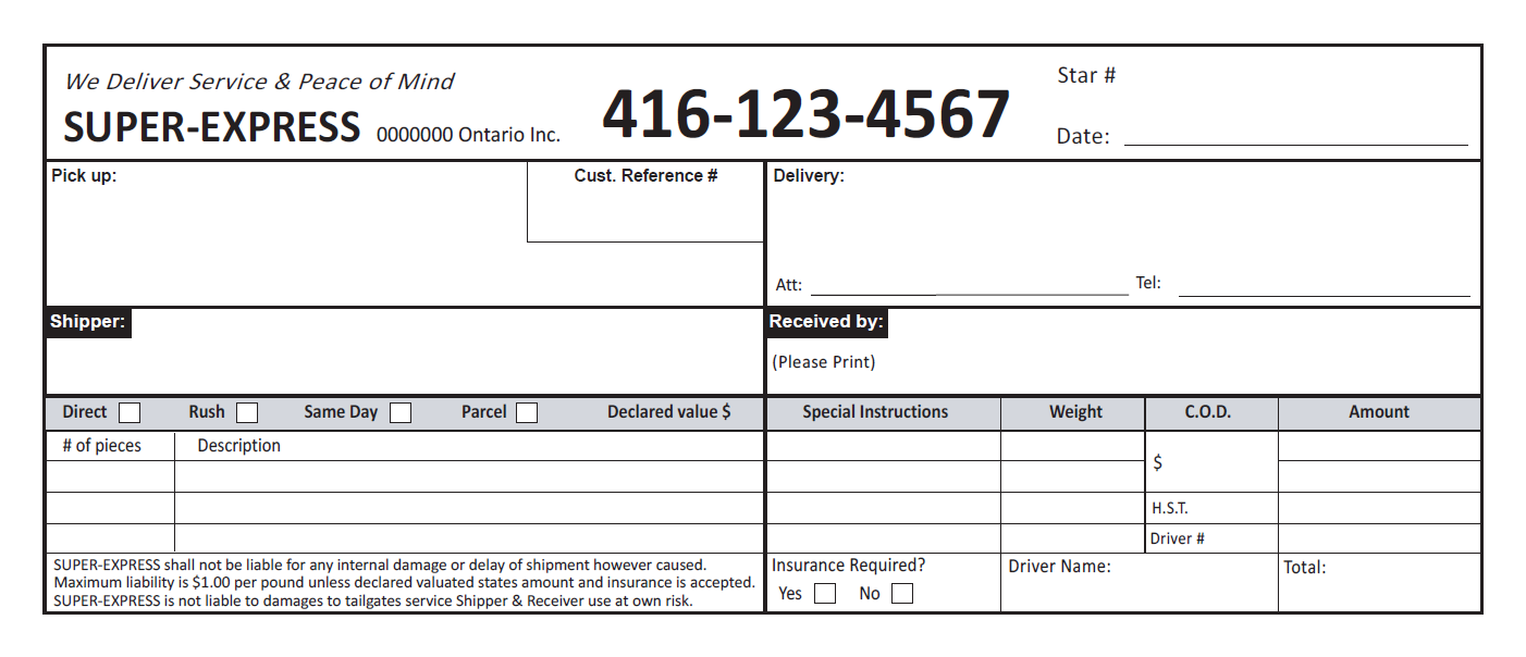 Shipping Invoice Template - Invoice Template